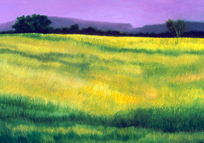 Ellen Sinel | COUNTRY GRASSES WITH PURPLE SKIES
