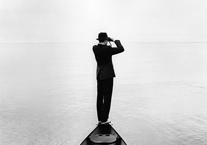 Rodney Smith | JONATHAN WITH BINOCULARS, SHERWOOD ISLAND, WESTPORT, CT, 2007